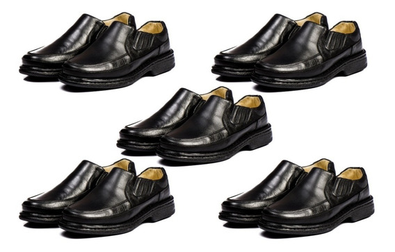 Kit 5 Sapatos Ortopédicos Anti Stress Social Masculino Promo
