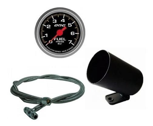 Kit Manômetro Fuel Odg Evo + Aeroquipe + Copo Suporte 52,0