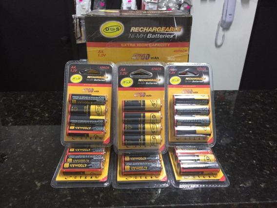 Kit Bateria Recarregavel Ds 4700 Aa 10 Pacotes 40 Baterias