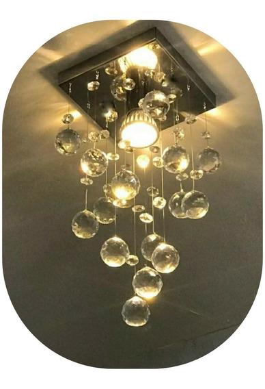 Lustre Plafon De Cristal Verdadeiro Sala Quarto Vai Montado