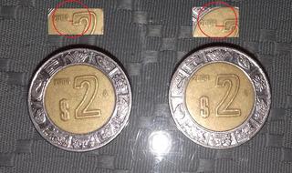Variedad Monedas 2 Pesos Año 2004 Fecha Cercana Y Lejana (a)