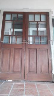 Liquido Impecable Puerta Cedro Y Vidrio Repartido C/marco.