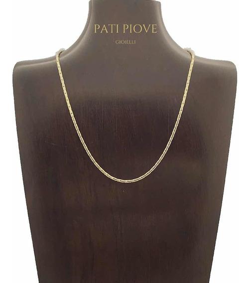Corrente Prata 925 Cadeado Cardano 40 Cm Banho Ouro 9,5 218