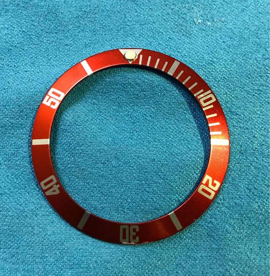 Bisel Reloj Grovana Diver 42mm. Color Rojo(solo Bisel Venta)
