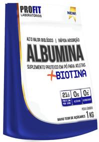 Albumina Refil + Biotina - 1kg - Profit Labs Abosrção Rápida