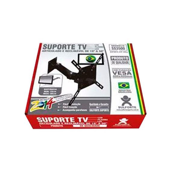 Suporte Bi Articulado Para Tv De 19 A 50 Ss-3500 Sulforte
