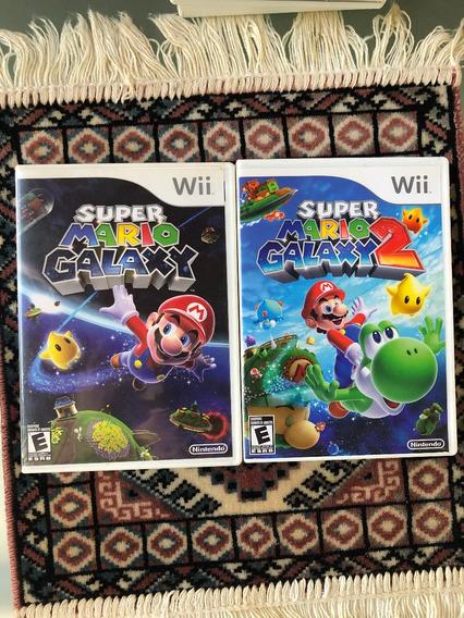 Super Mario Galaxy 1 E 2 - Wii/ Wii U - Original E Americano