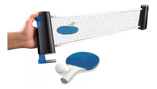Set Ping Pong Portatil 2 Paletas + Pelotas + Red Retráctil