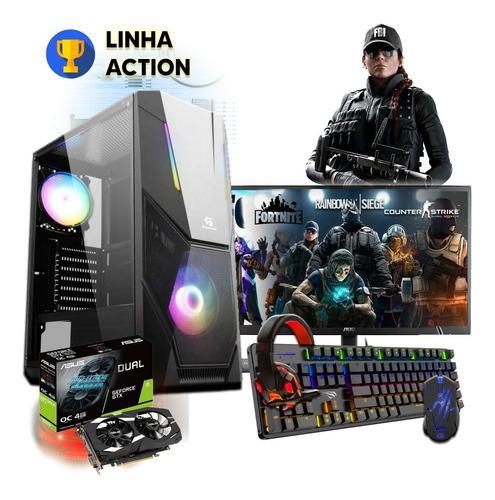 Imagem 1 de 6 de Pc Gamer Streamer I7 16gb Ssd Hd Monitor Kit Gamer + Brinde