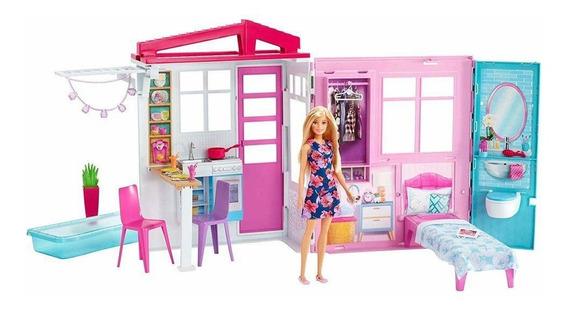Barbie Real Casa Com Boneca - Cod Fxg55