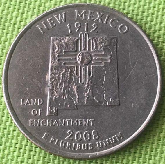Usa : Quarter Dollar - Estado : New Mexico - 2008
