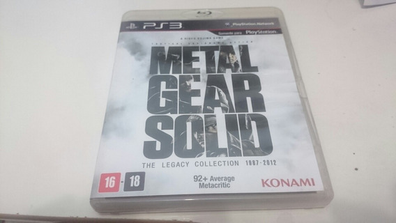 Jogo Ps3 Metal Gear Solid The Legacy Collection Frete Grátis