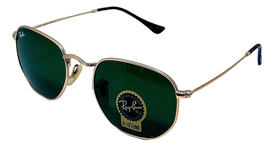 Óculos De Sol Hexagonal Retro Vintage Masculino Feminino Verde Tamanho 51 M