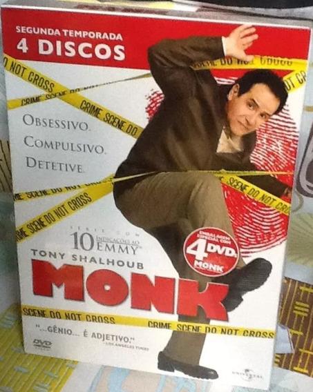 Box Original : Monk - 2ª Temporada - Lacrado - 4 Dvds
