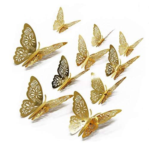 Fomento De Pegatinas Doradas Con Mariposas Y Mariposas Para