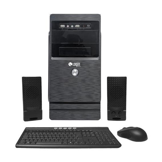 Computador Completo Login Quad Core 4gb 500gb Dvd-rw Linux