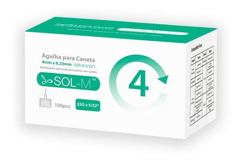 Imagem 1 de 9 de Agulha Para Caneta De Insulina 4mm 32g C/100un