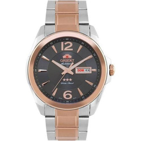 Relógio De Pulso Masculino Orient 469tt050 G2sr Prata + Gold