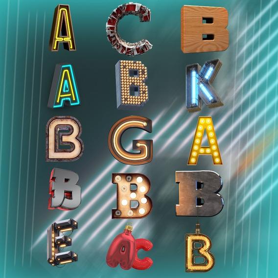 Letras 3d Em Png (15 Letras)