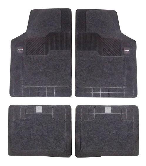 Tapete Carpete+borracha-borcol-torino 4 Pç-preto-03718841