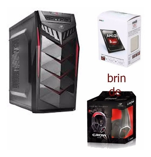 Pc Gamer Amd 4 Gb 1 Tb Hd +brinde