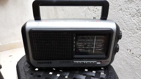 Rádio Portátil Usado Toshiba Modelo Tr449sp 4 Faixas Funcion