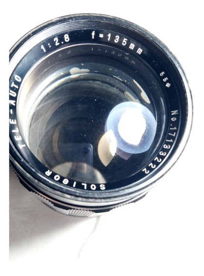 Lente Soligor Tele 135mm F/ 2.8 Para Minolta