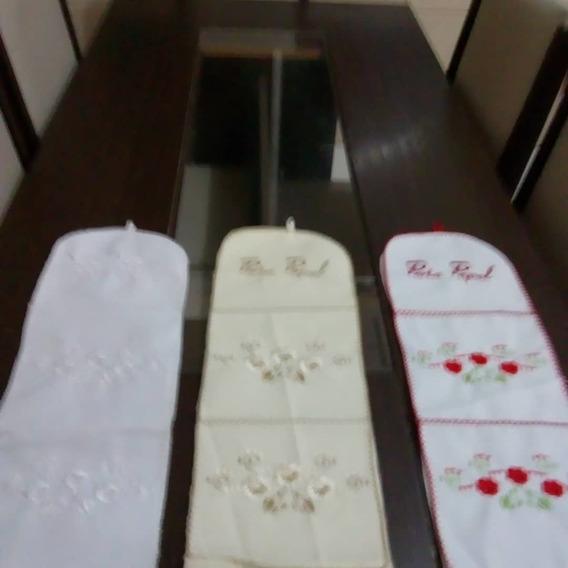 Kit Com 10 Porta Papel Bordado Com Linha De Seda
