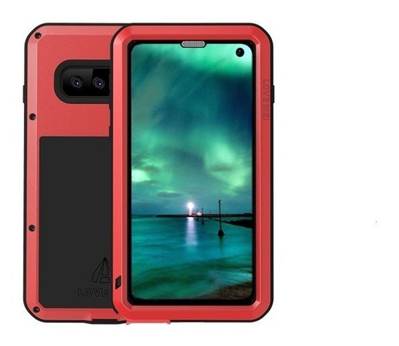 Funda Samsung S10 Love Mei Powerful Uso Rudo Aluminio Glass