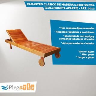 Reposera / Camastro De Madera Dura