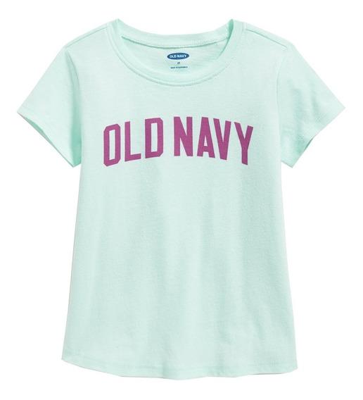 Playera Niña Bebé Manga Corta Logo Estampado Old Navy