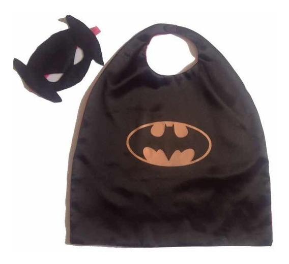 Capa Antifaz Batman Batíchica Superhéroes Cotillon