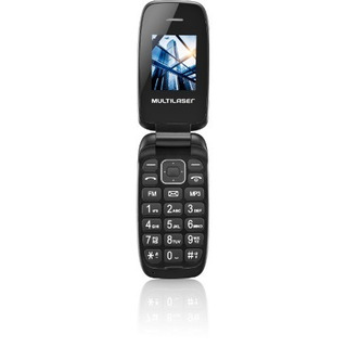 Celular De Flip Up Multilaser Cor Preto Dual Chip Mp3 P9022