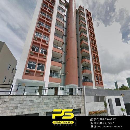 Apartamento Com 3 Dormitórios À Venda, 101 M² Por R$ 270.000 - Manaíra - João Pessoa/pb - Ap3738