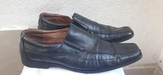 Zapatos Calzado De Cuero No 43 Negro Marca Bata