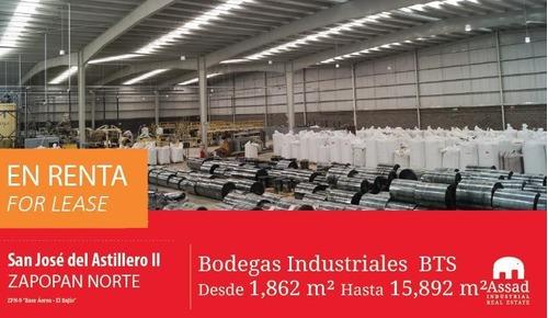 Renta Bodegas Zapopan Norte/industrial Werehouse For Lease Zapopan Desde 1,862m2 Hasta 15,892m2 En Parque San Jose Del Astillero Ii