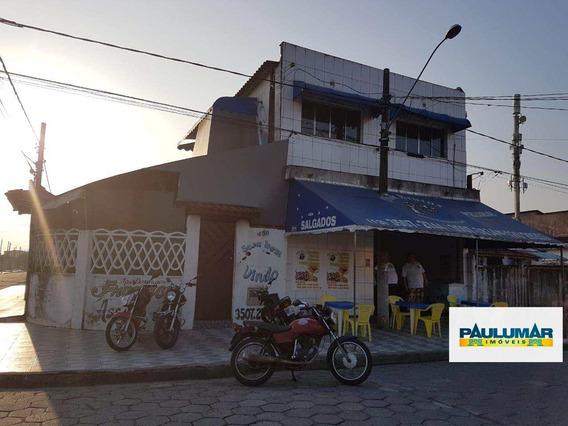 Salão Com 2 Dorms, Vera Cruz, Mongaguá - R$ 500 Mil, Cod: 828034 - V828034