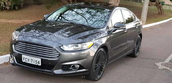 Ford Fusion Awd 2015 Teto E Cor Exclusiva Cinza
