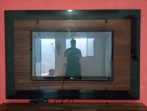 Painel Sala Urban Rudnick 100% Madeira Para Tv Até 60