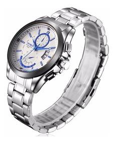 Relógio Masculino Importado De Luxo Soki De Aço Inoxidável