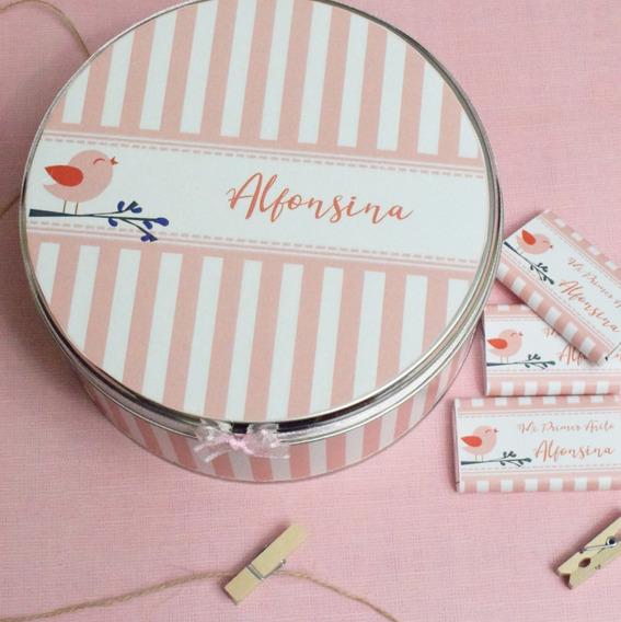 Lata Con Souvenirs Chocolates Personalizados