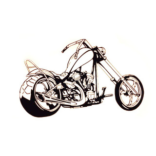 Adesivo Quarto Moto Motoqueiro Chopper Harley Adesivo