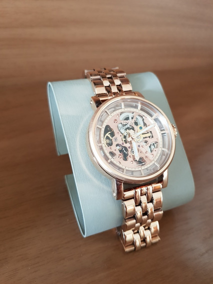 Relógio Fossil Feminino Dourado Importado Menor Preço Barato