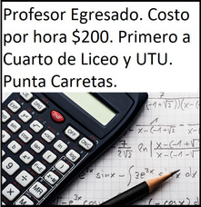 Clases Particulares De Matemática. Costo Por Hora $200