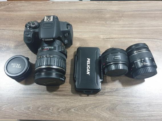 Dslr T5i Canon Lentes Ultrasonic - Duplicador Kenko