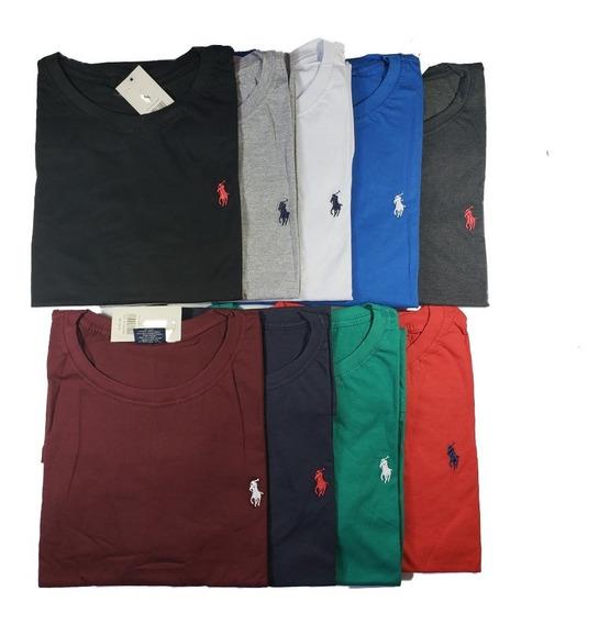 Kit 4 Camisas Gola Redonda Extra Grande Masculin G1 G2 G3 G4