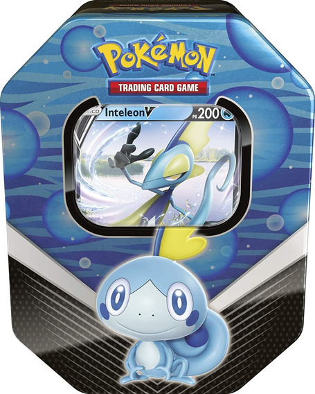 Lata Card Pokémon Inteleon V Parceiros De Galar Carta Copag