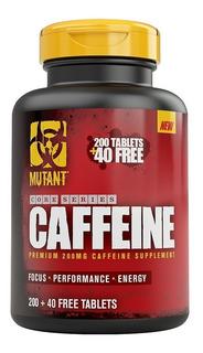 Cafeina 240 Capsulas 200 Mg Caffeine Mutant Aumento Energia