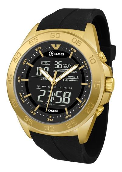 Relógio X-games Masculino Anadigi Xmgpa004 P2px Dourado