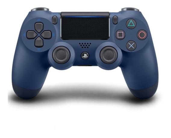 Controle Para Playstation 4 Sony Dualshock 4 Azul Escuro